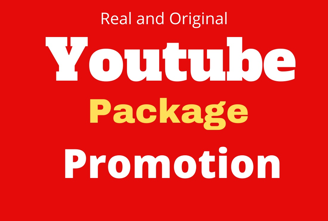 Best HQ YouTube Package Promotion Marketing & Fast delivery