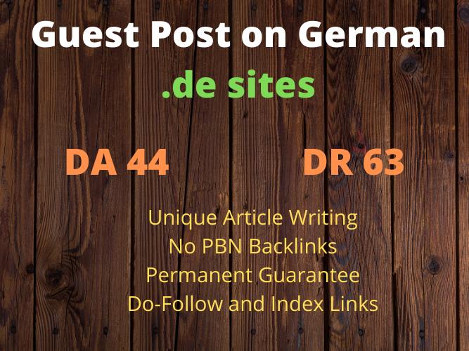 Guest Post on German. de website with Do Follow Link DA 44