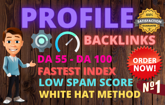 25 Profile Backlinks high authority do-follow permanent hq manual link building