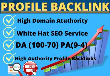 Live 25 Profile Backlinks High Authority Website Permanent backlink manual link building