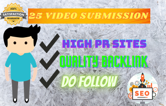 I will manually video upload in 25 popular video submission sites