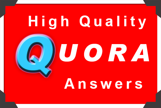 I will provide 5 High Quality Quora answers and URL