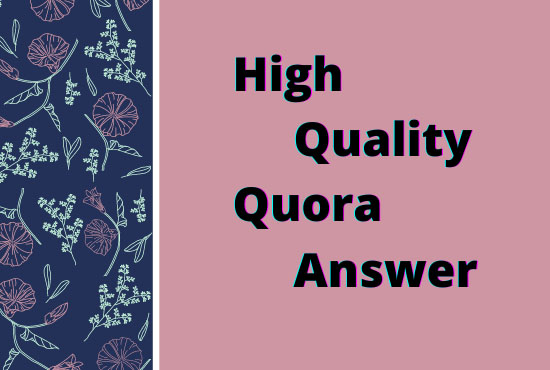 Provide 5 prime quality of Quora Answers with keyword & universal resource locator