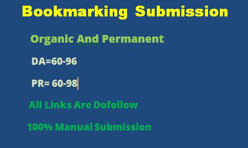 30 Bookmarking submission backlink on HQ sites as link building in off page seo manually