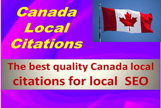 Top 50 canada local citation or listing as link building on off page seo backlink manually