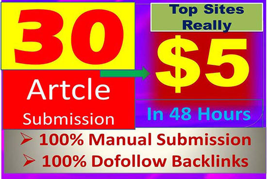 I will give article submission link on high da SEO backlink sites