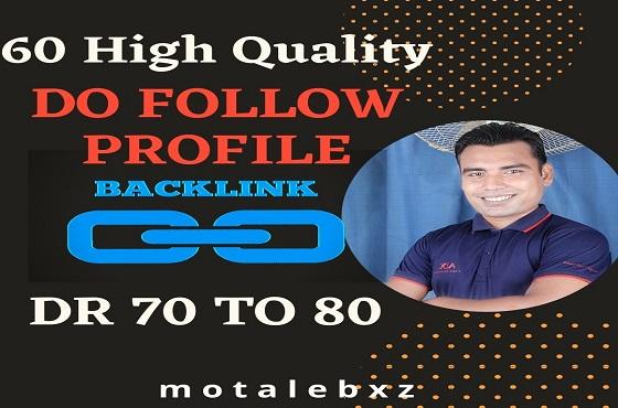 Build 60 High Quality Profile Backlinks