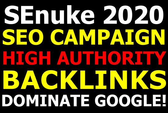 I will run a powerful SEO campaign for 2020 top rankings