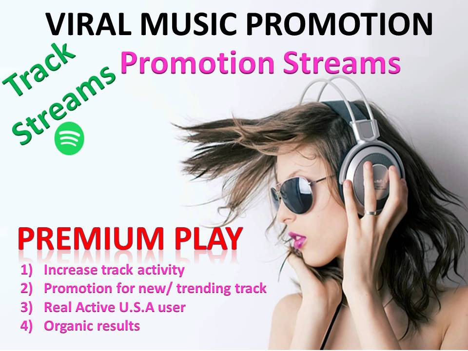 Get You 3k USA Premium Track Streams High Quality Music Promotion + Monthly Listeners