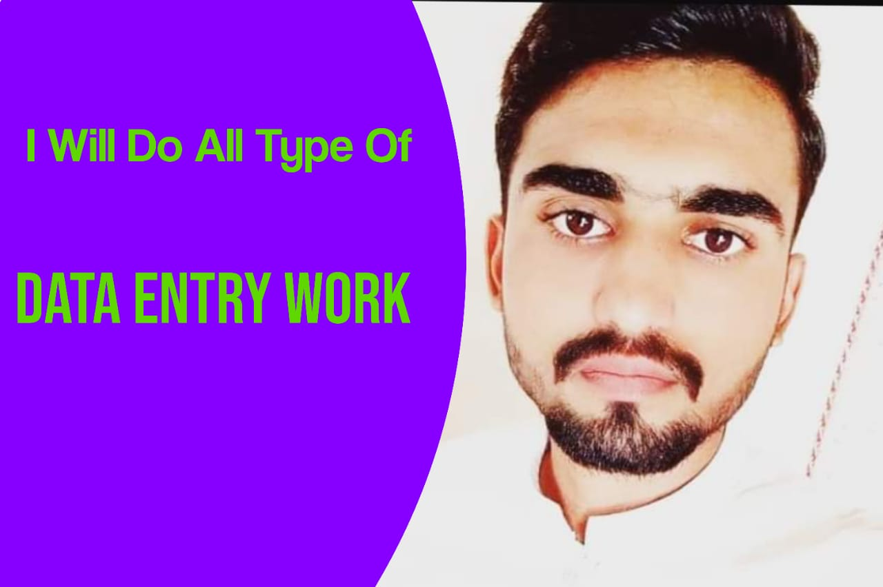 I will do fast all types of data entry work