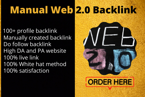 Get 100 Unique DoFollow High DA PA Web 2.0 Backlinks for your Website