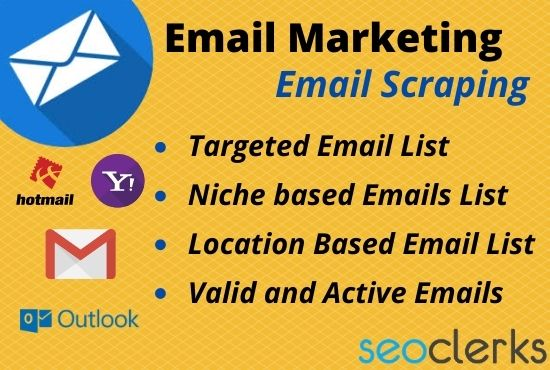 I will provide niche and location based email list as your requirement