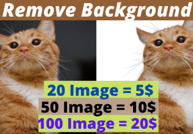 I will remove background from your image manually