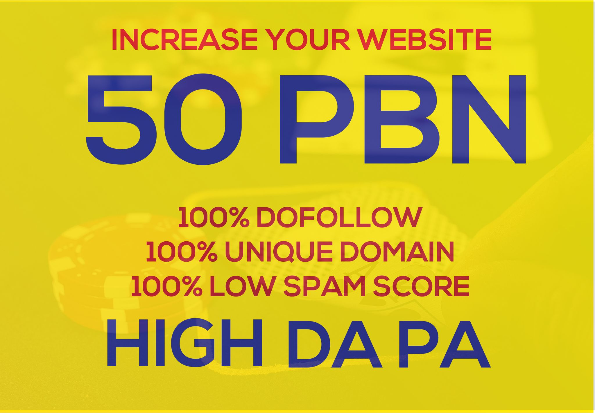 Get 50 PBN on High DA and DR Backlinks for your website