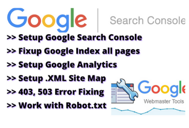 Google index website and setup search console