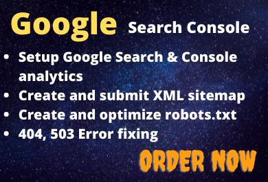 Google search console setup google index website