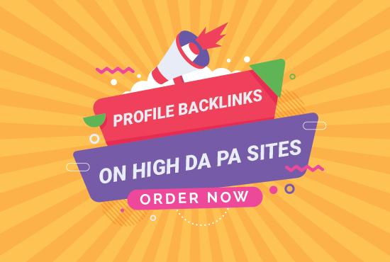create 70 dofollow SEO profile backlinks on High DA PA sites for your website