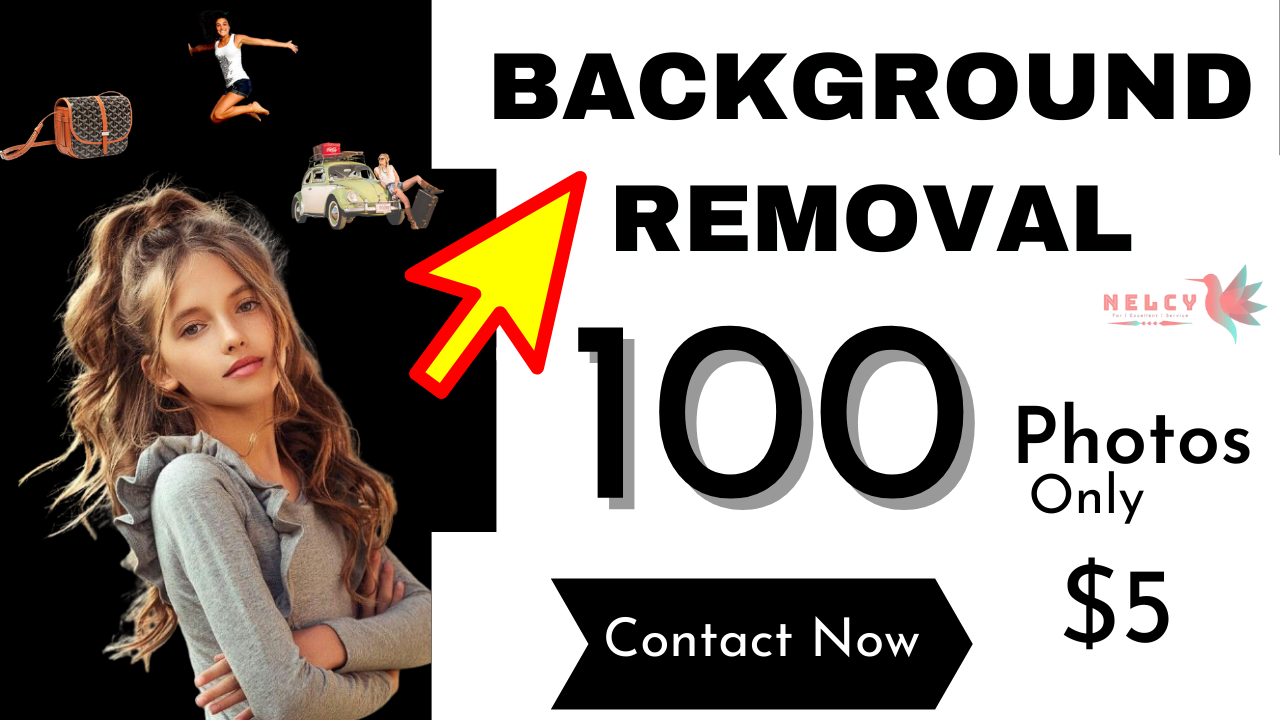 I Remove background of your photos 1-100