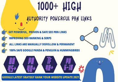 Get 1000+ High Quality Backlinks Web2.0 With High DA45+PA40+PR6+ Links Homepage Unique website