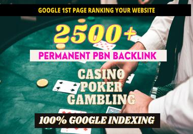 2500+ PBN Blog Post Casino/Gambling/Poker/judi Bola Niche Related Permanent Post