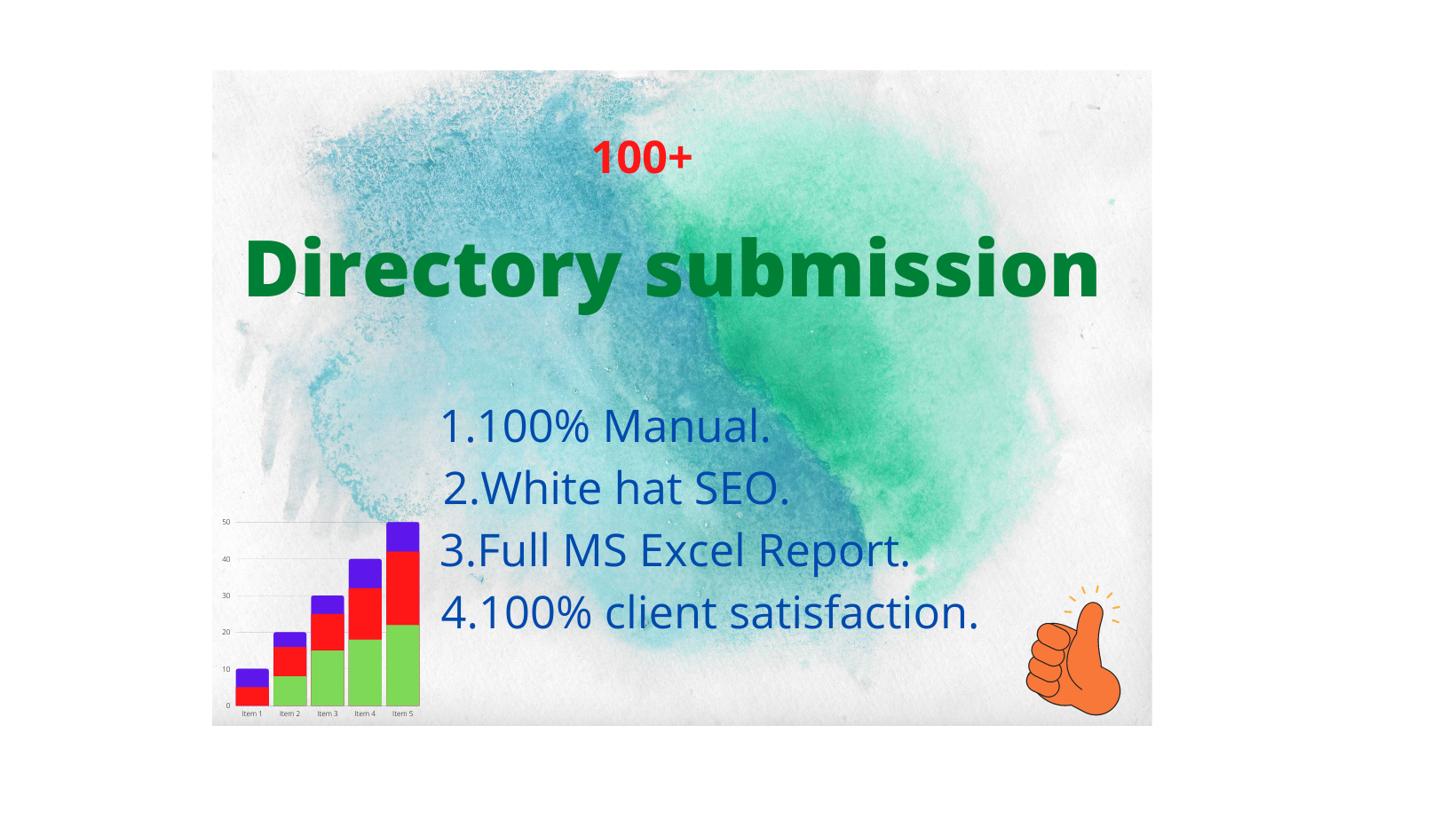 I will do 100+ high quality web directory submission seo backlinks.