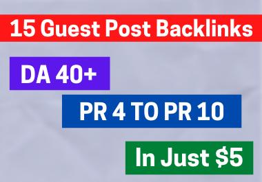 15 SEO Guest Post Backlinks 100 Dofollow.
