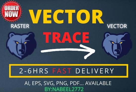I will do vector tracing in adobe illustrator