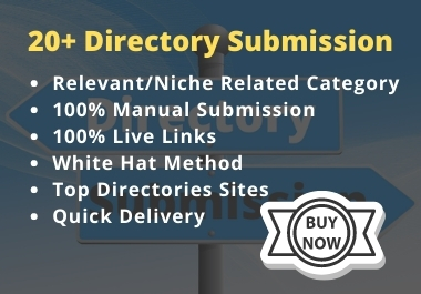 20+ Manually Directory Submission on Relevant Category