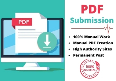 30 Manual PDF Submission Backlinks on Top Sharing Sites for Google Ranking