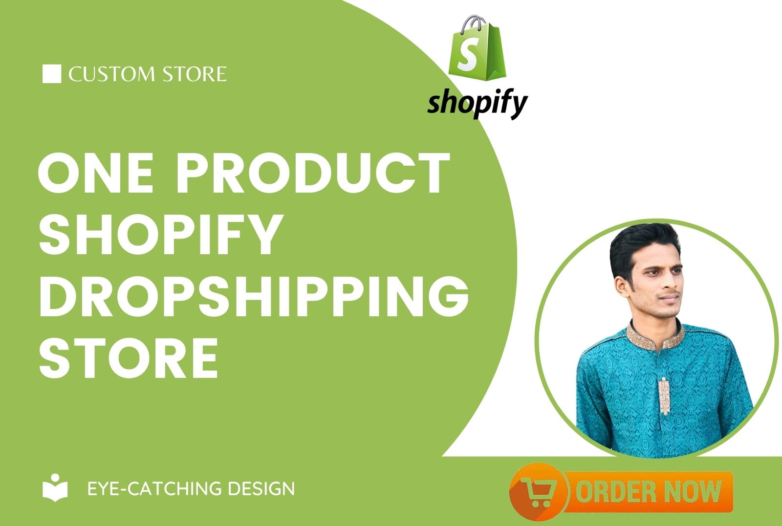 I will build one product shopify dropshipping store using oberlo