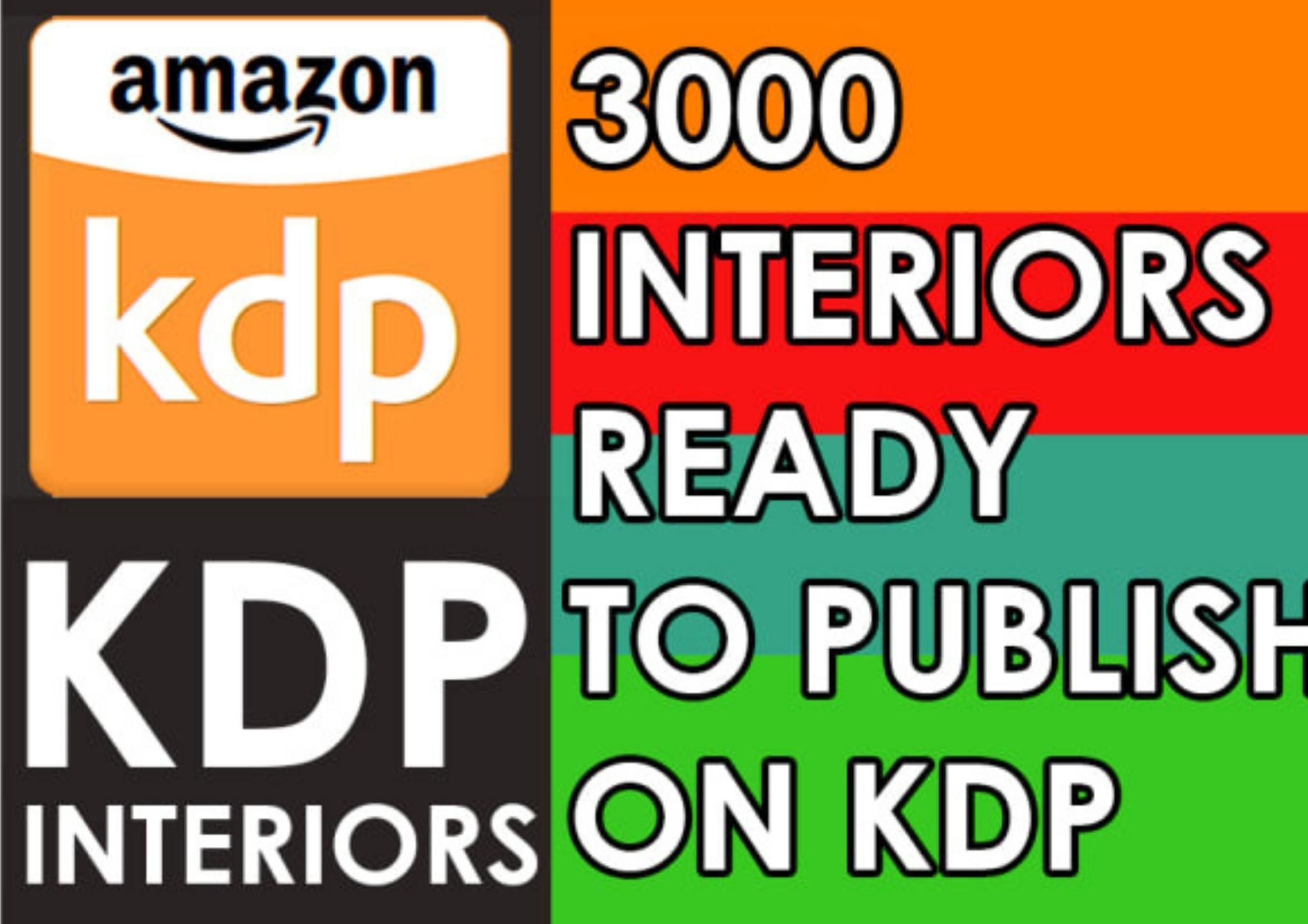 I will give you 3000 KDP interiors ready to upload