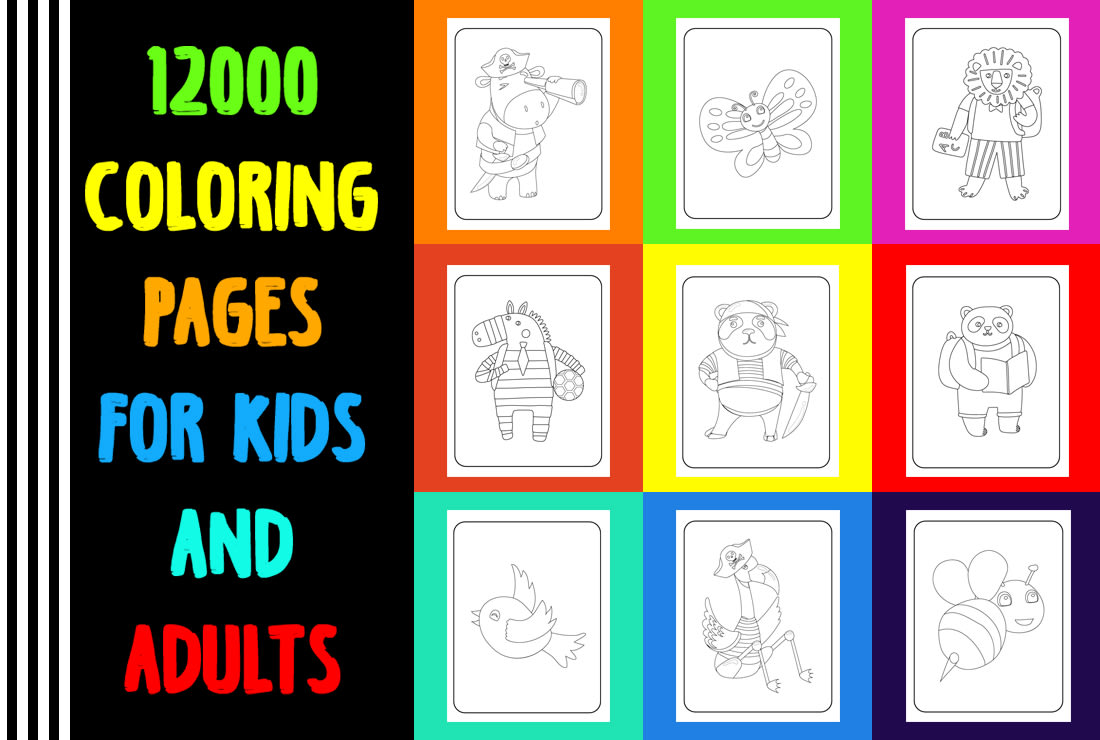 I Can Give You 12000 Unique Coloring Pages For Kids And Adults