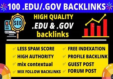 I will boost your website premium quality 100 high DA edu gov backlinks
