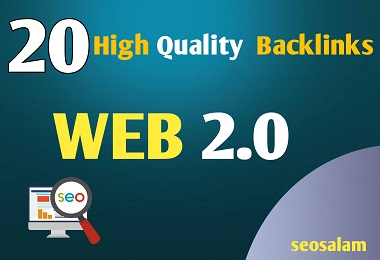 24 hours Delivery 20 High Quality Manual Dofollow Web 2.0 Backlinks.