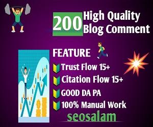 Create Edu gov 10+200 high quality dofollow blog comments backlinks