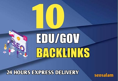 24 hours Delivery 10 Edu/Gov with high authority safe link building seo backlinks