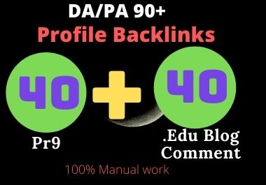 40 Pr9+40 Edu Blog Comment Pr9 High Authority Profile Backlinks.