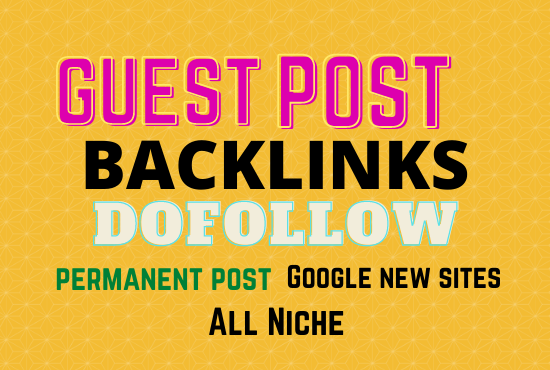 I will guest posting on da 60 to 70 google news site with dofollow backlink guest post