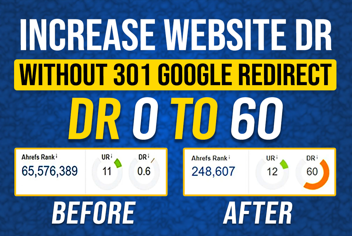 I will increase domain rating ahrefs domain authority DR 50 with dofollow backlinks