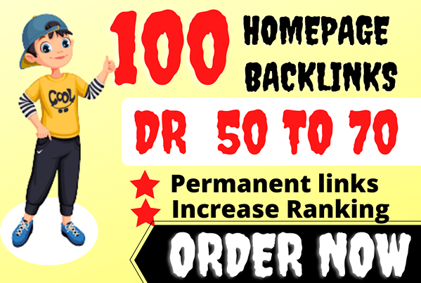 I will 100 homepage backlinks high authority seo dofollow