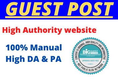 Write and Publish 10 Guest Post High Authority unique dofollow permanent contextual backlinks