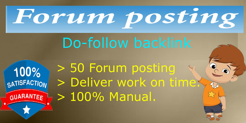 I will provide do follow 50 High Forum posting