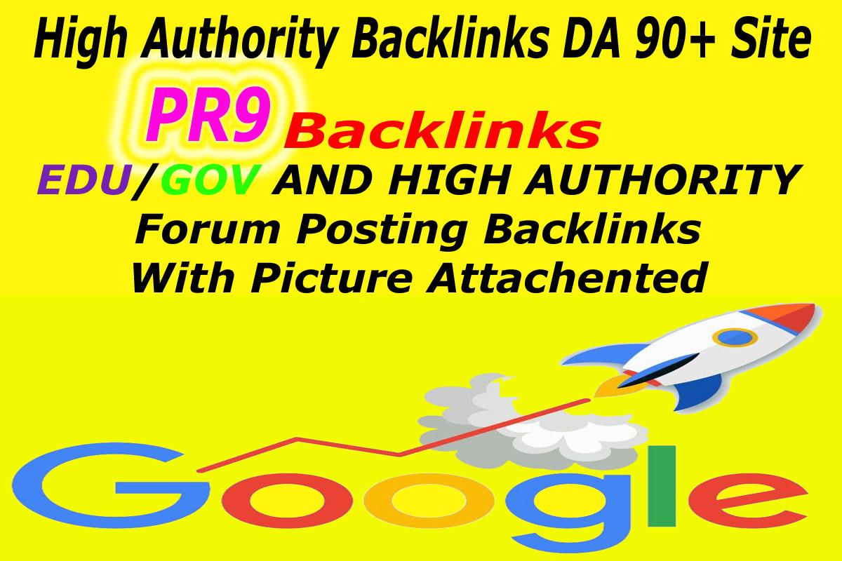 Super 60 Backlinks 40 PR9 + 15 EDU / GOV 90+ DA and Forum Backlinks Manually For Boost Your Google R