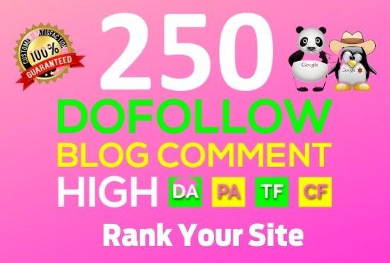 make 300 high quality backlinks using blog comments