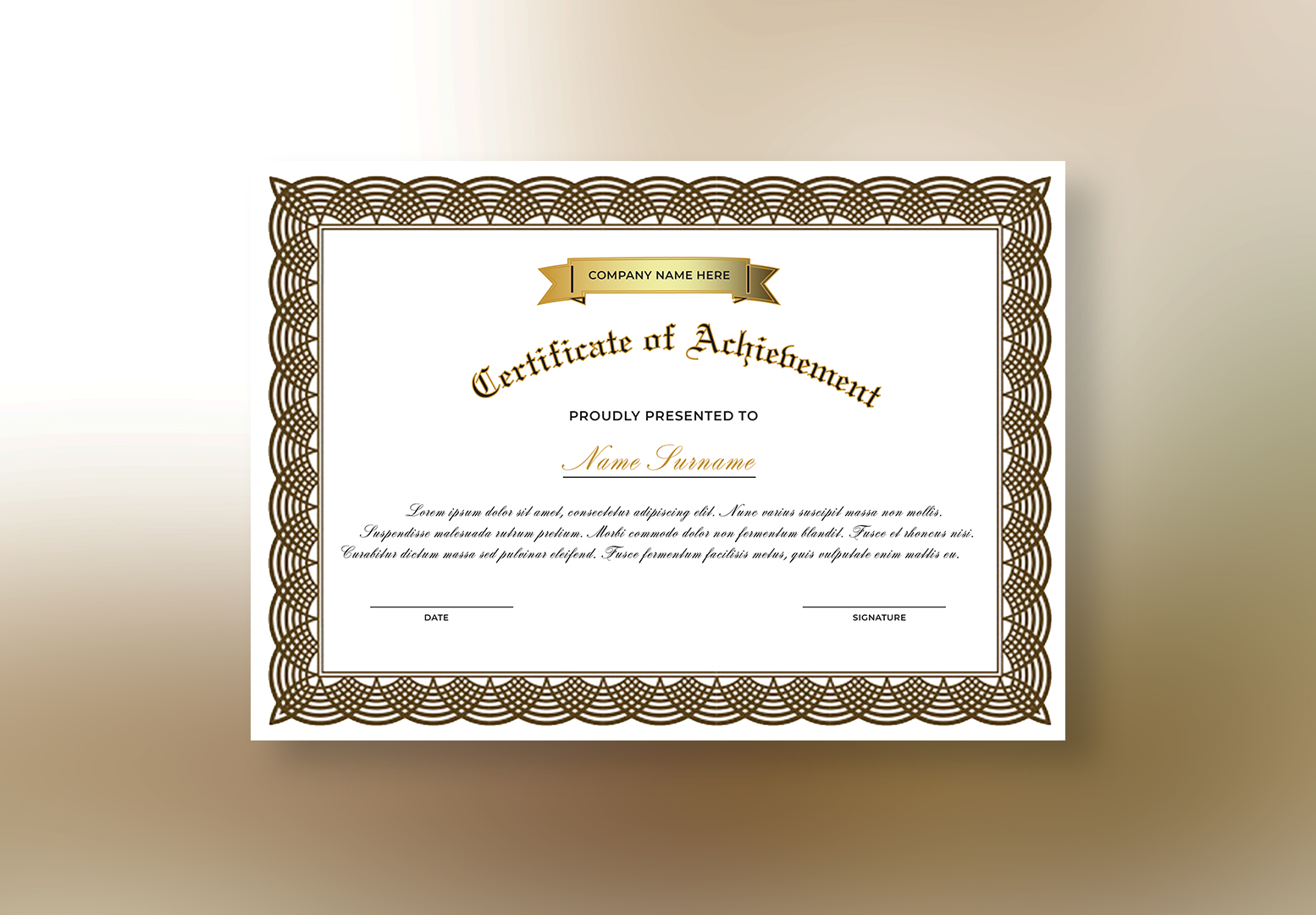 I can prepare diversity of Certificate designs within 24 hours