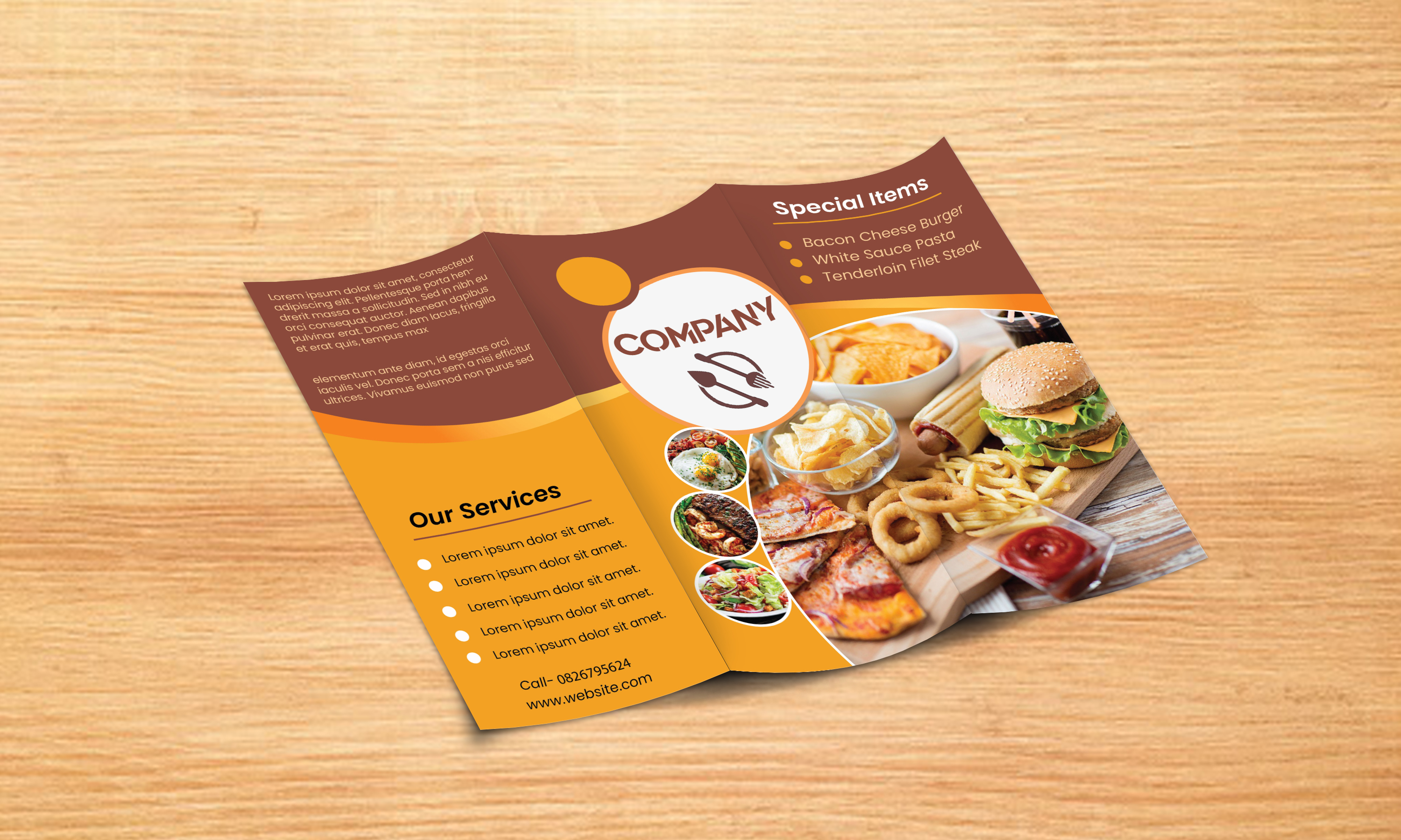 I can make eye-catching Trifold brochure designs within 24 hours