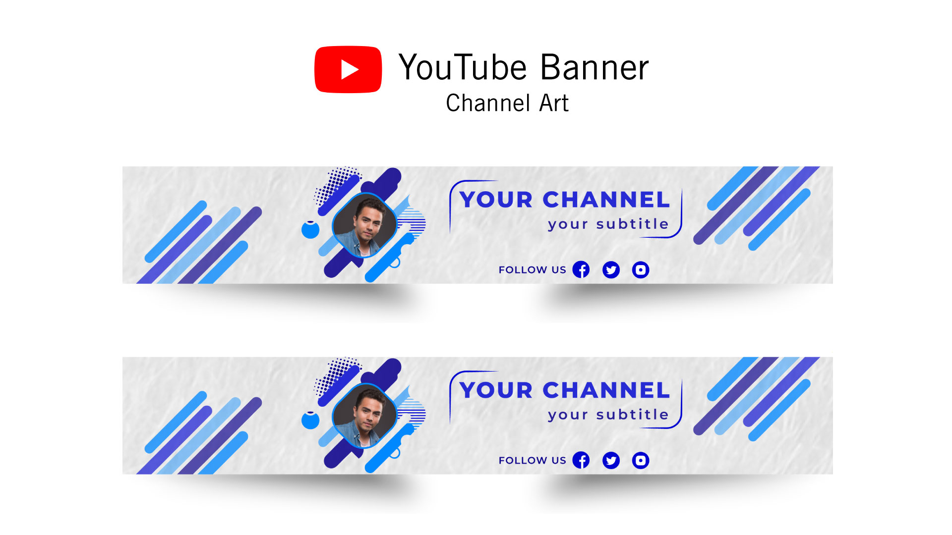 I'll create eye catchy youtube banner within 24 hour