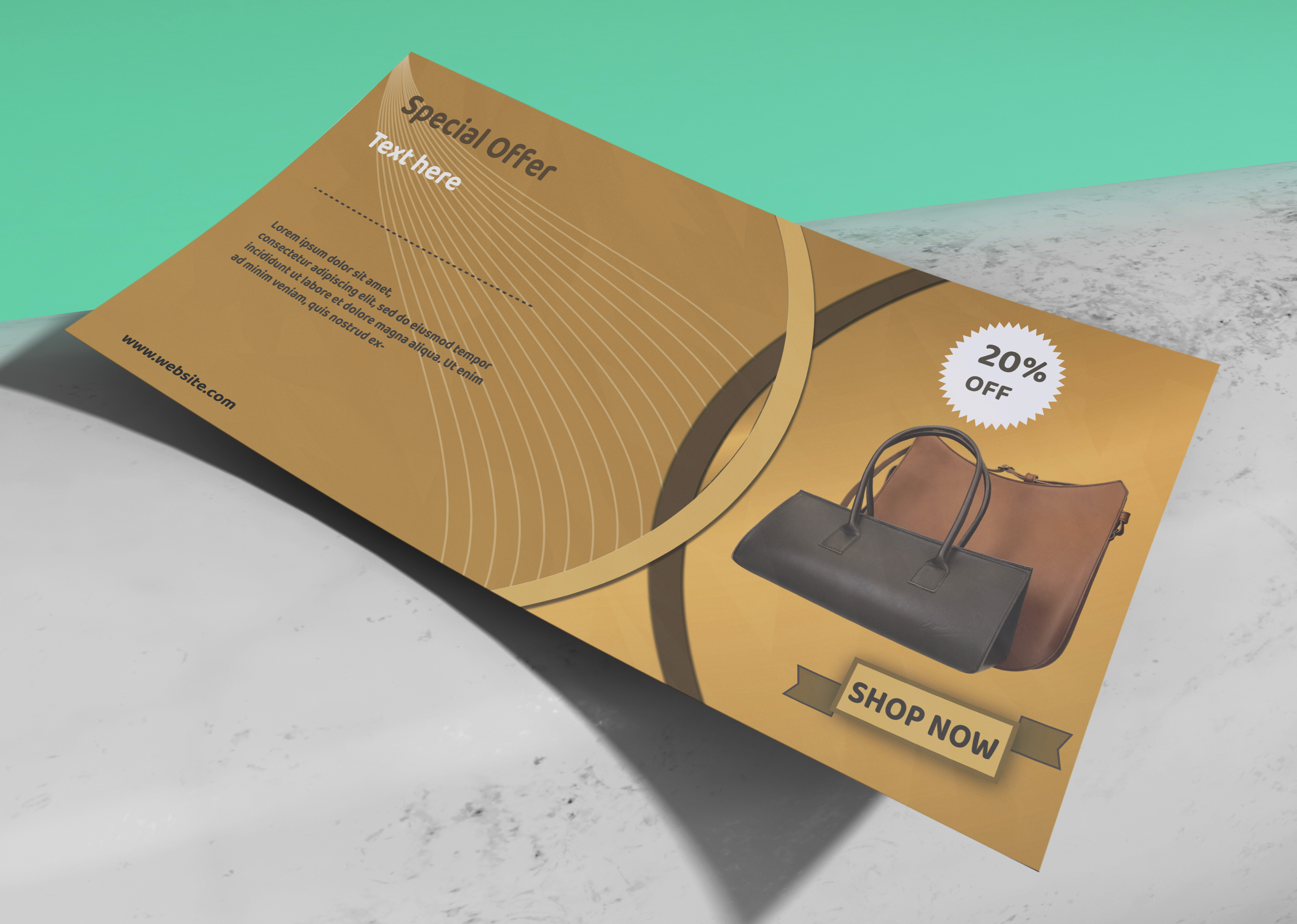 I can make eye-catching Flyers within 24 hours