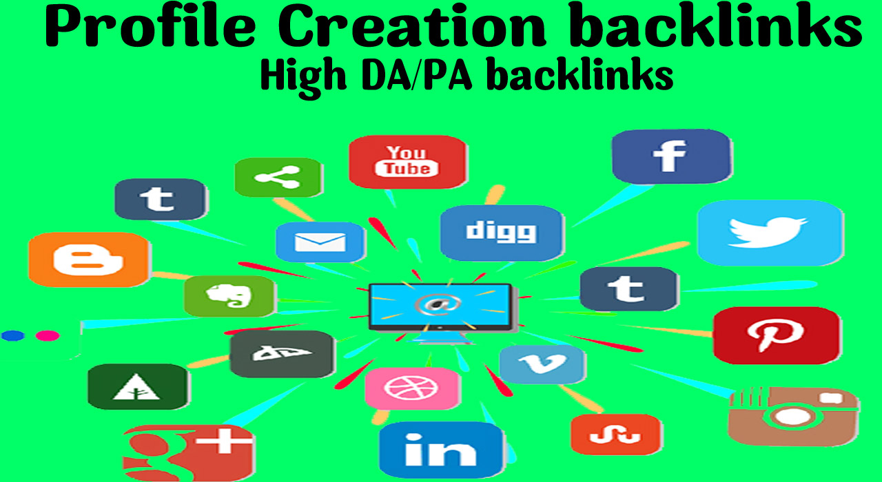 I will Create 40 High Quality social profile creation from Best social Media Website