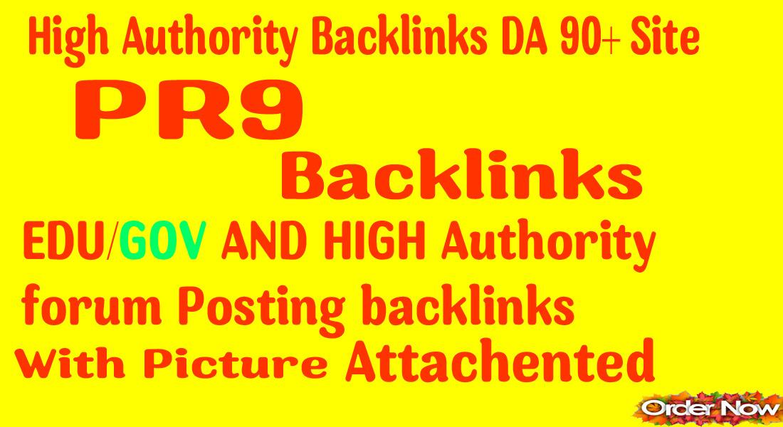 Super 70 backlinks 40 PR9+ 20 EDU/GOV 90+DA & Forum backlinkg Manually For Boost Your Google Ranking